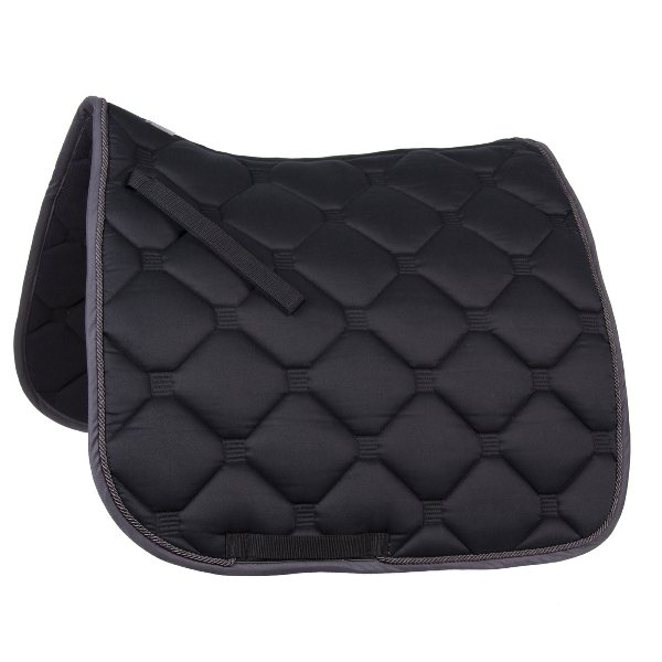"""Esperia"" Saddle Pad from Germany- Black/Grey"