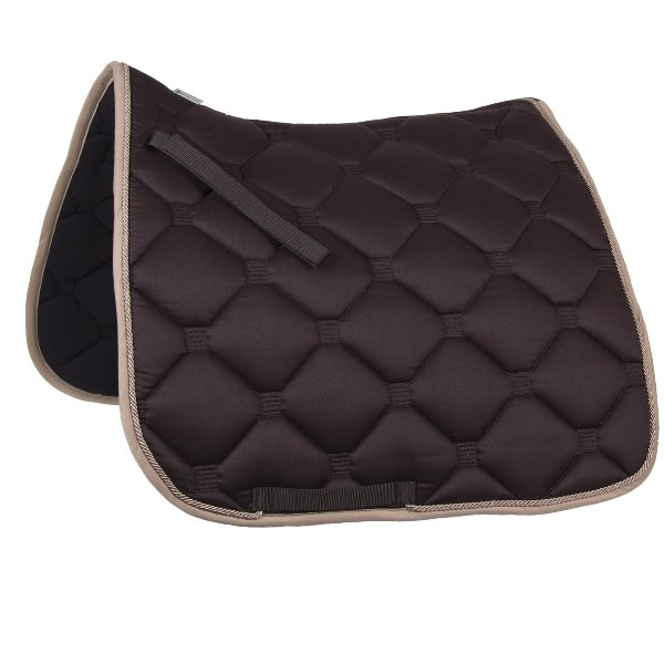 """Esperia"" Saddle Pad from Germany- Brown/Beige"