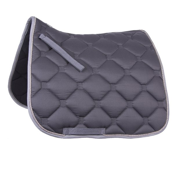"""Esperia"" Saddle Pad from Germany- Grey/Light Grey"