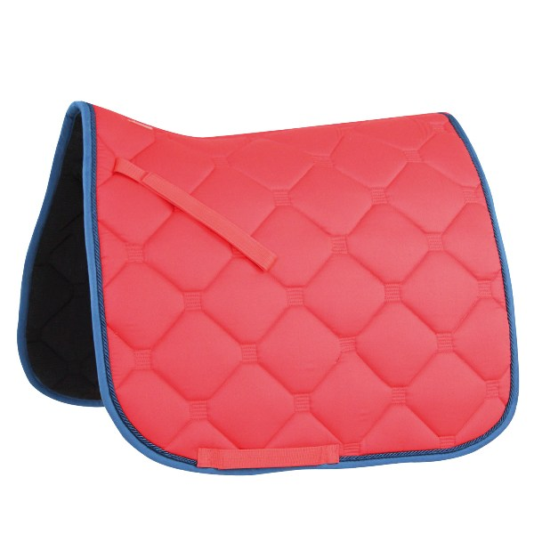 """Esperia"" Saddle Pad from Germany- Red/Dark Blue"