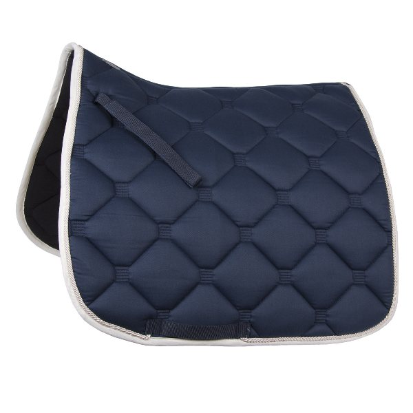 """Esperia"" Saddle Pad from Germany- Navy/Cream"