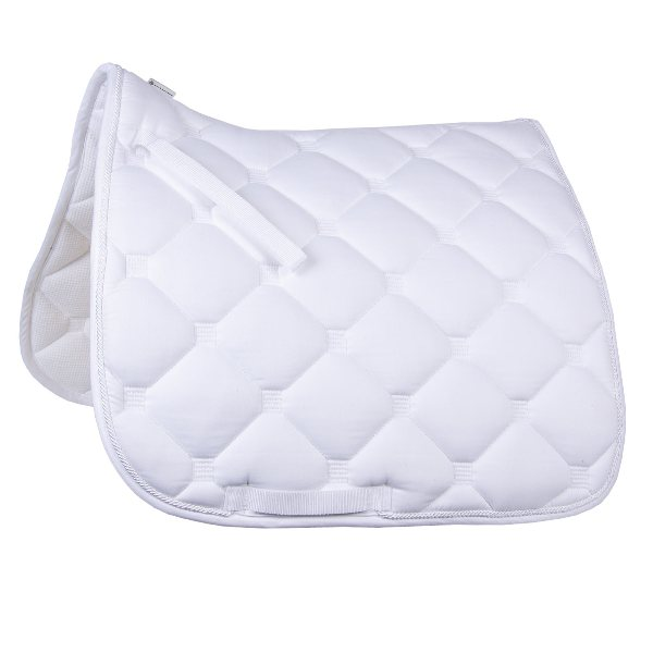 """Esperia"" Saddle Pad from Germany- White/White"