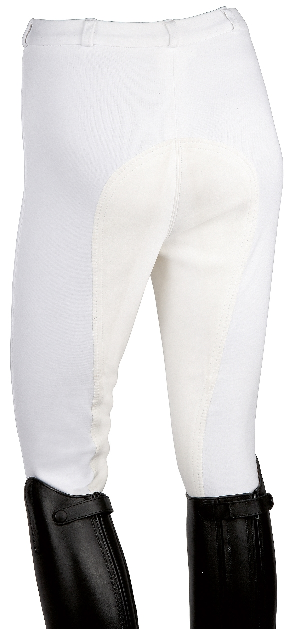 Ladies White Elt Fun Competition Riding Breeches With