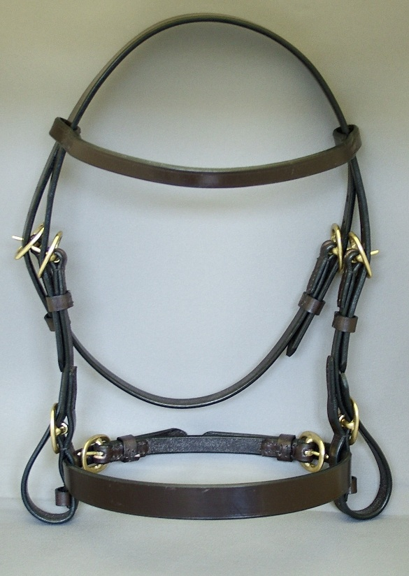 "Wyvern 1/2"" In-Hand Bridle with a Flat Noseband"