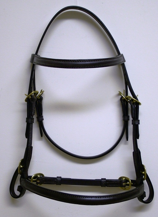 "Wyvern 1/2"" In-Hand Bridle with a Raised Noseband."